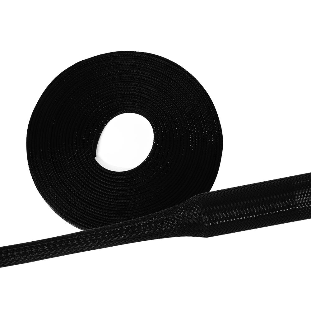 5m 5mm Tubo Tessuto Intrecciato Tubo Cavo Protezione Poliestere 3-7mm