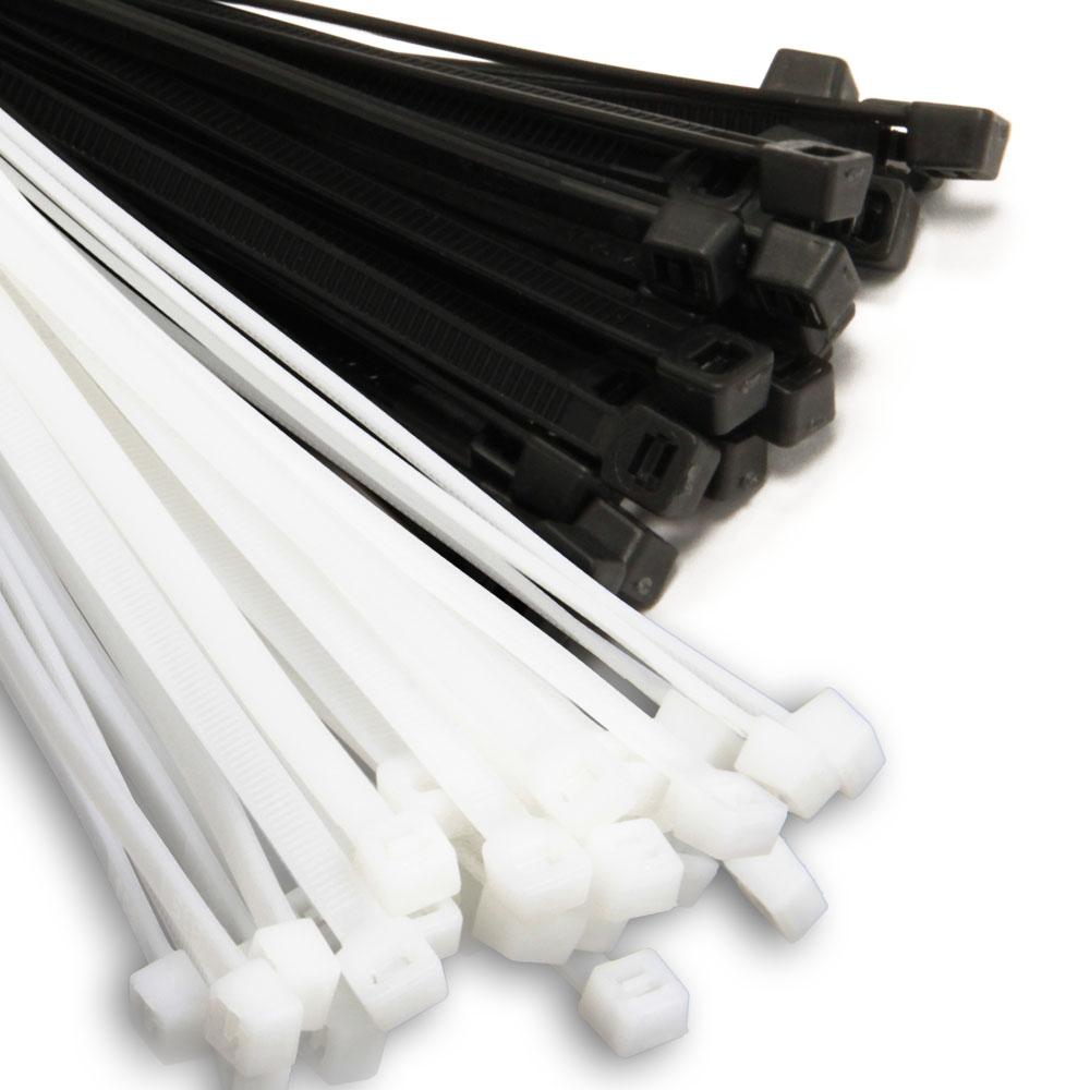 Kabelbinder Set Schwarz oder Weiß Kabelstrapse Kabelband Profi ...