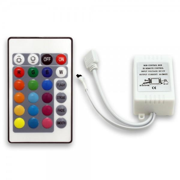 Controller 72W/6A mit 24 Tasten Fernbedienung GRB