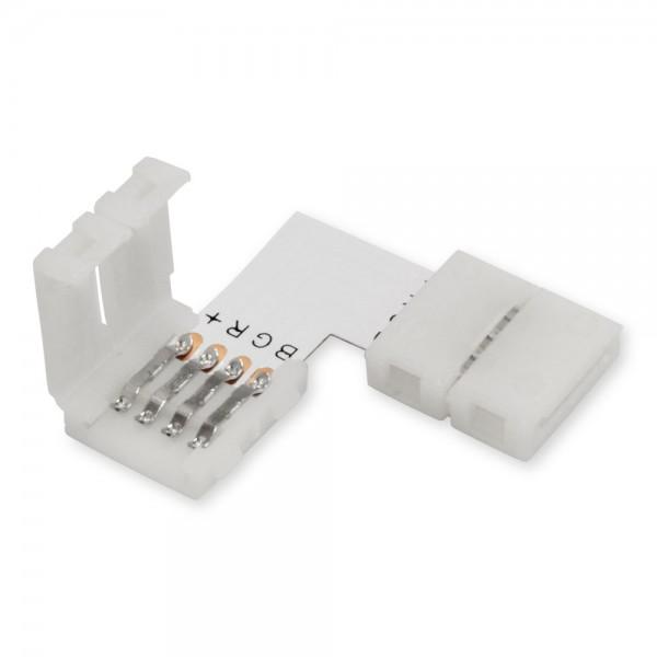 RGB LED Strip Steckverbinder L-Form mit Clip