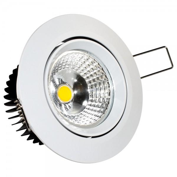 LED Einbaustrahler 7 Watt schwenkbar weiß 4000K