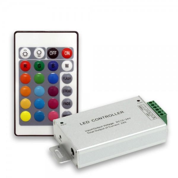 Controller 288W/24A mit 24 Tasten Fernbedienung