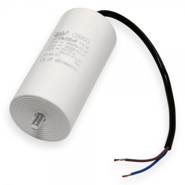 Motorkondensatoren mit Anschlusskabel