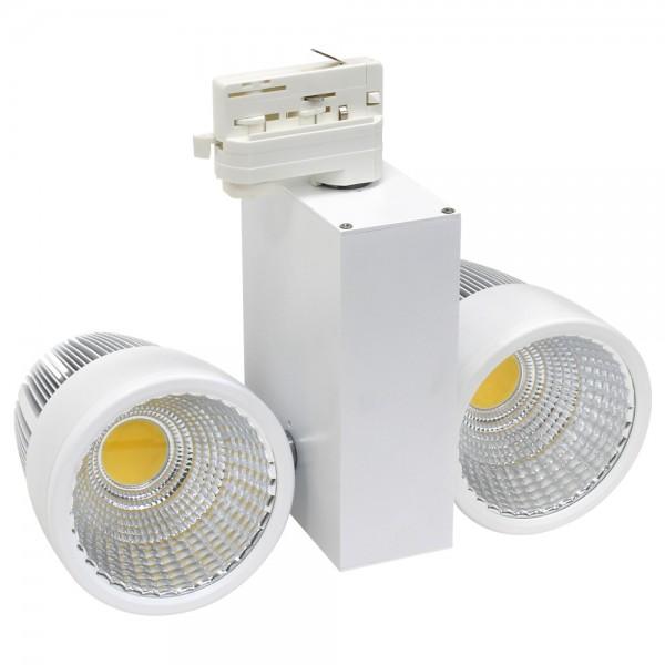 LED Stromschienenstrahler 2x30 Watt Weiß 4000K