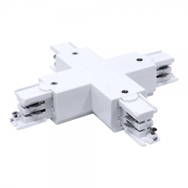 Kreuzverbinder für 3-Phasen HV Stromschiene weiß