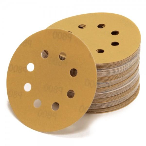 Schleifscheiben Ø 125 mm Gold 8 Loch