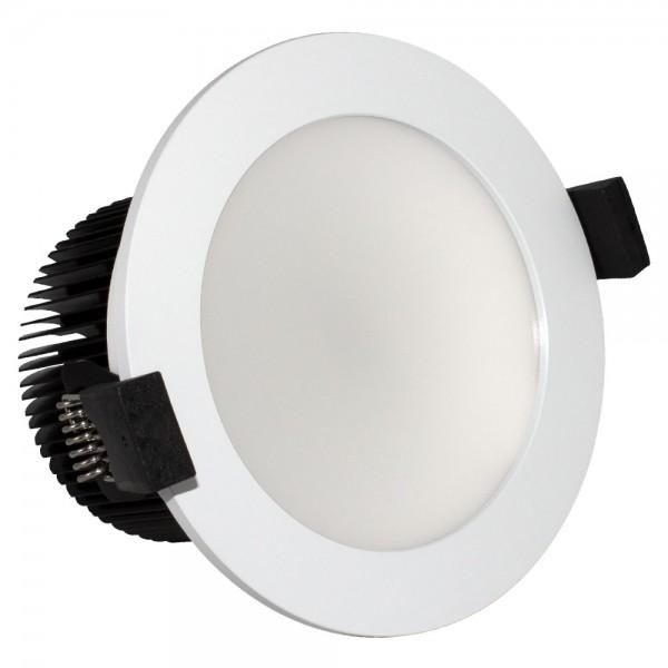 LED Einbaustrahler 15 Watt matt weiß Kaltweiß