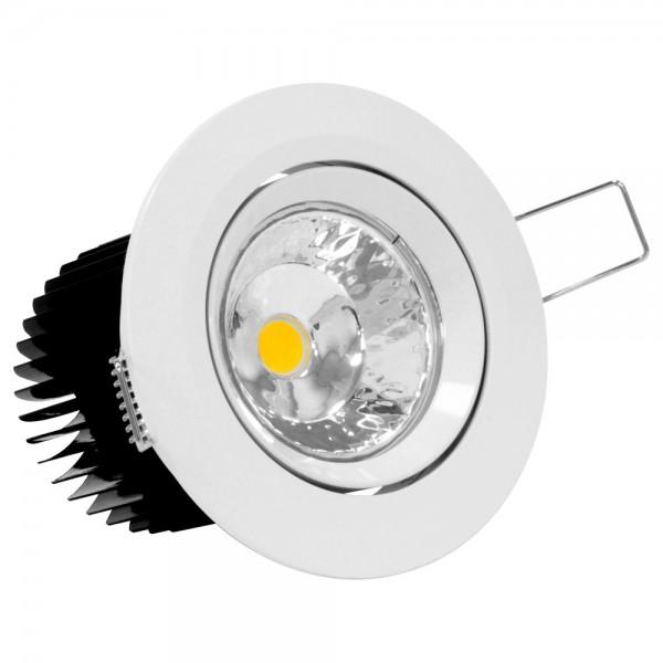 LED Einbaustrahler 9 Watt schwenkbar weiß Warmweiß